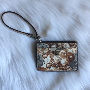 Authentic Brown Coach Wristlet/Coin Purse